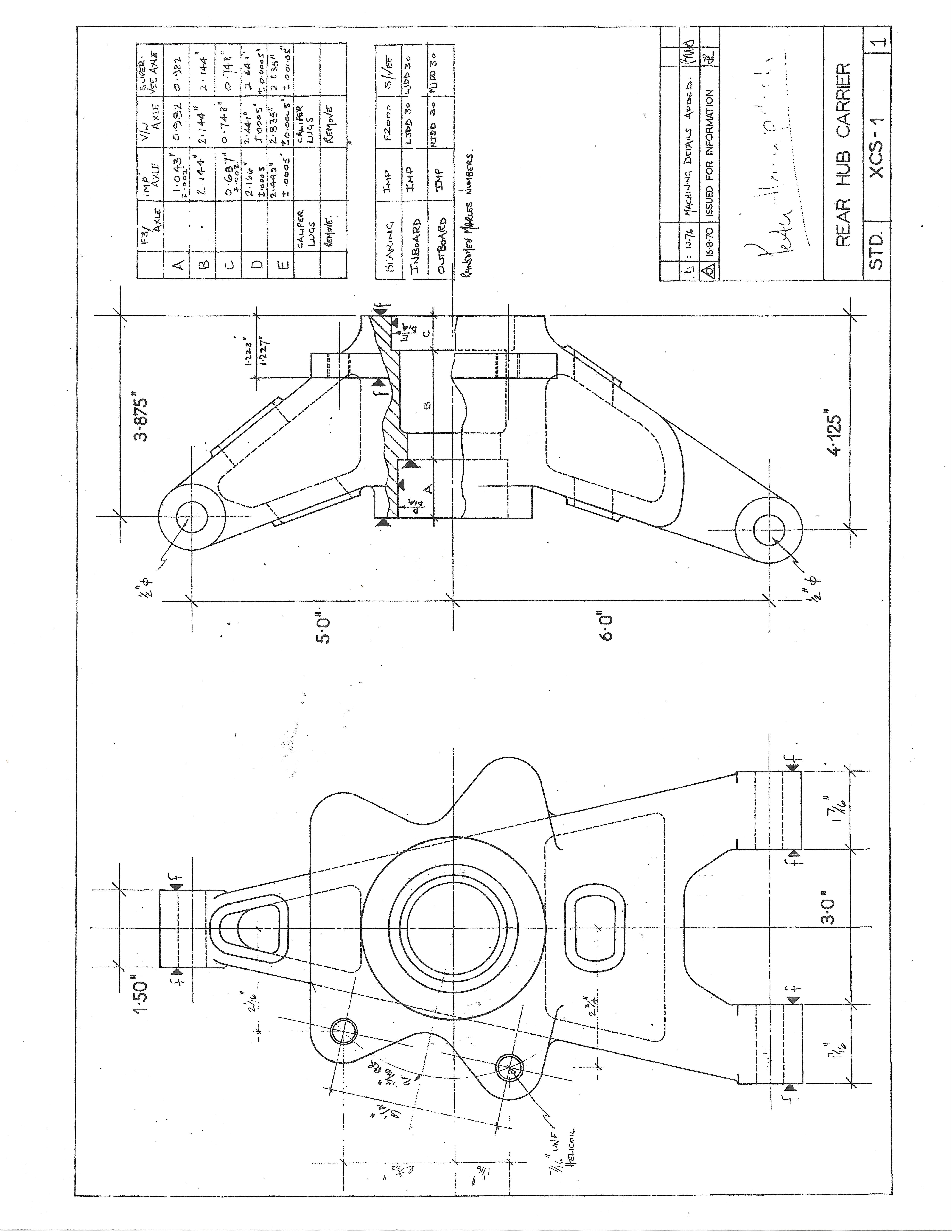 Elden Formula Ford Mk10 Chassis Drawings