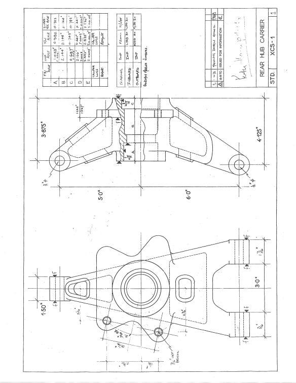 Elden FF Rear Hub A Arm drawing